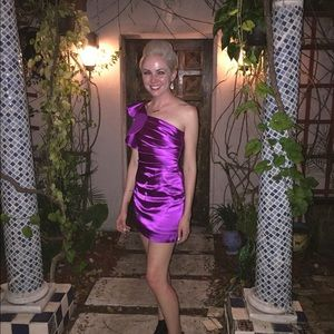 Dresses & Skirts - Stunning 80s vintage purple silk dress